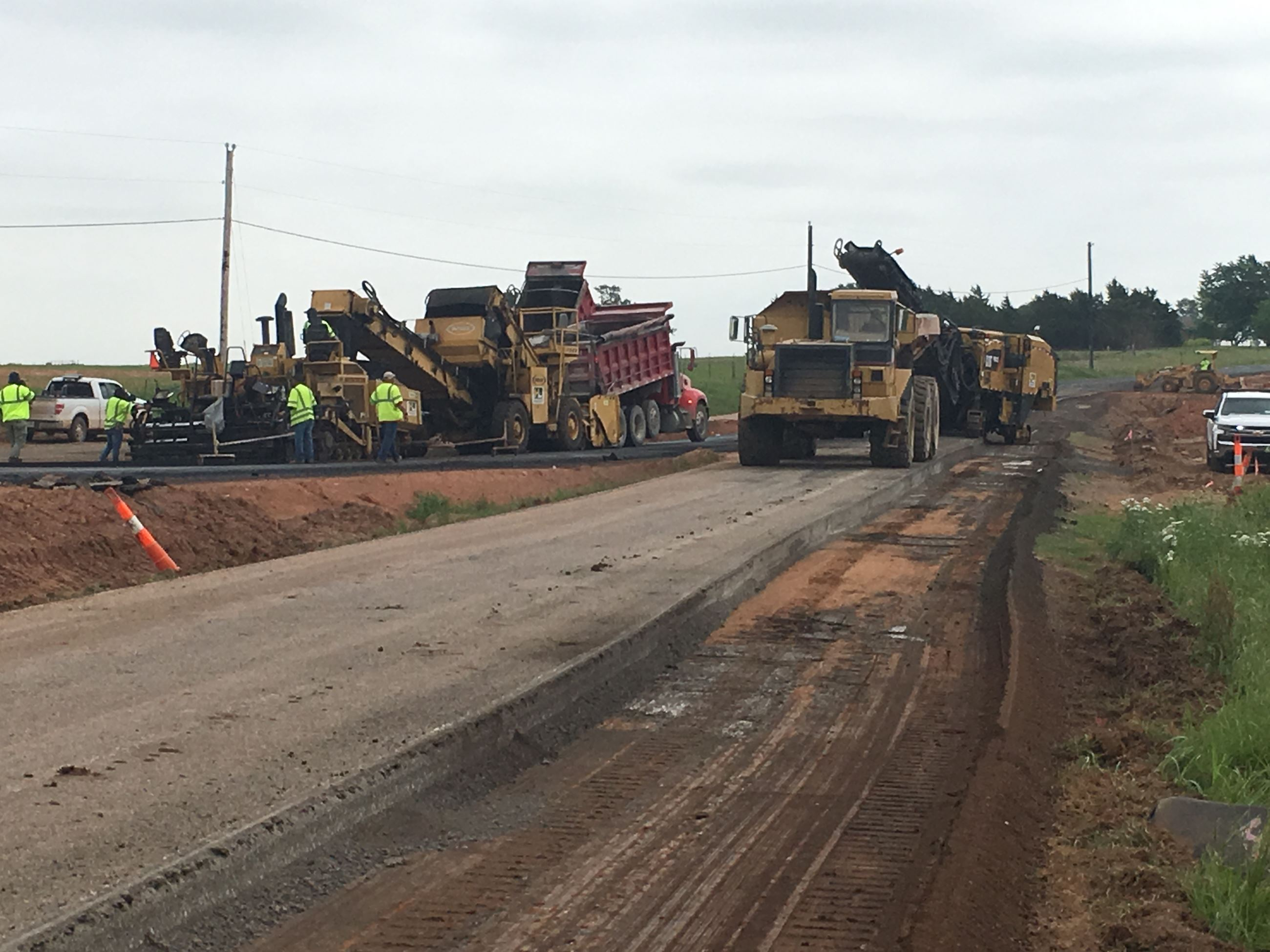 Paving contractors working on Arapaho Creek Project