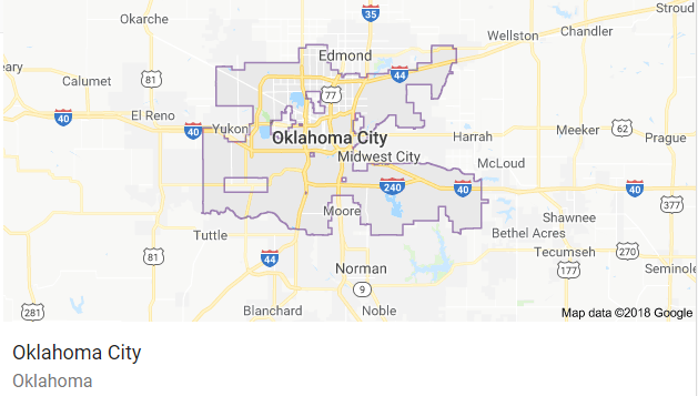 Map of Oklahoma City